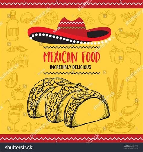 mexican menu placemat food restaurant menu stock vector