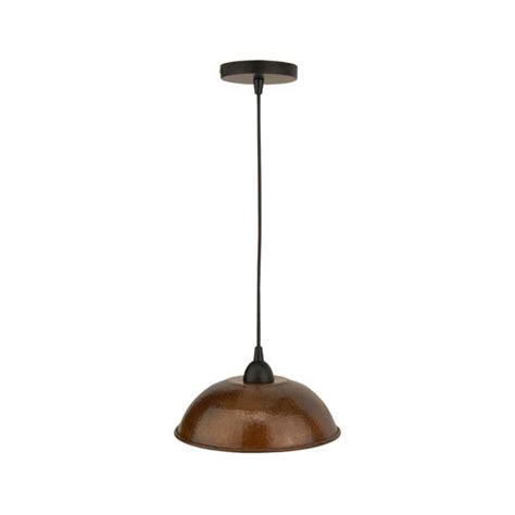 Hammered Copper Pendant Lights Premier Copper Hammered Copper 10 1 2 Inch Dome Pendant Light S Restorers 174
