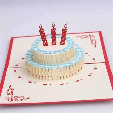 Handmade Birthday Cake - creative 3 d stereo diy handmade birthday cake card paper