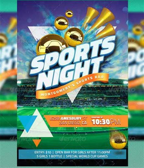 sports day poster template best soccer tournament flyer design