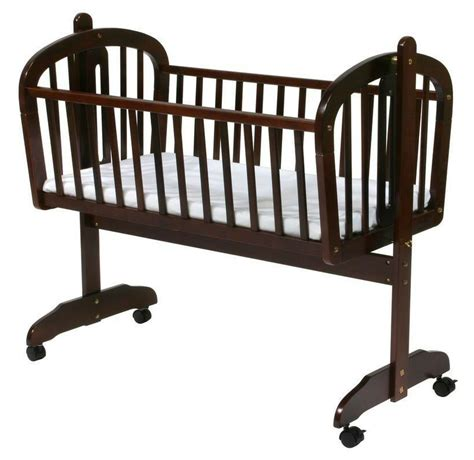 baby rocking cradle wood crib bassinet infant bed day care