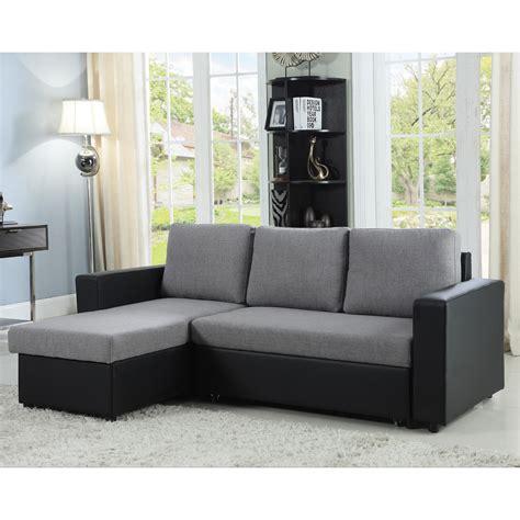 coaster baylor sectional sofa  chaise  sleeper