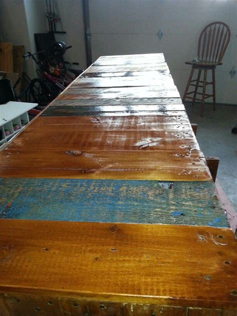 pallet bar top my pallet bar top pallets pinterest