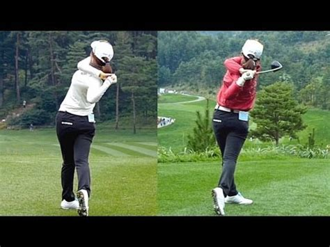 step by step driver swing slow hd kim hye youn driver 2013 dual view step golf
