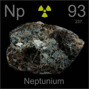 Element With 93 Protons Poster Sle A Sle Of The Element Neptunium In The