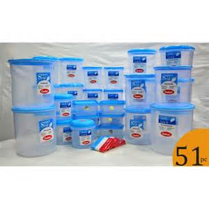 Storage Containers With Locks - buy chetan set of 51 pcs plastic airtight kitchen storage containers and bag locks 68100