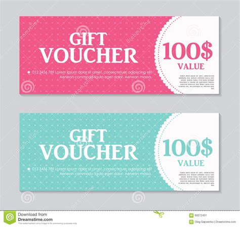 Gift Card Text Template by Gift Voucher Template With Sle Text Vector Stock Vector
