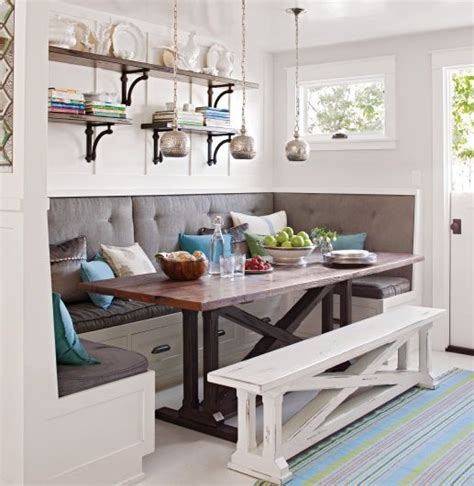 built in bench seating for kitchen plans awesome breakfast nook built in bench dining table and