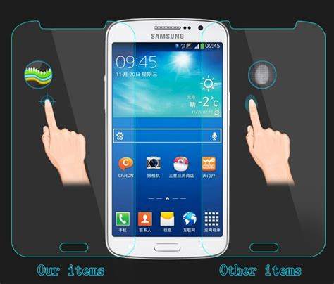 Tempered Glass Mirror Samsung J3 2015 J300 Anti Gores Kaca Warna 3 tempered glass screen protector for samsung galaxy s2