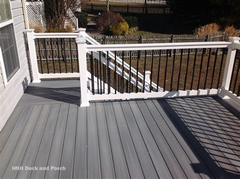 decking aluminum balusters giving  deck upgraded