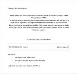 Free Service Agreement Contract Template by Sle Contract Agreement 43 Free Documents In
