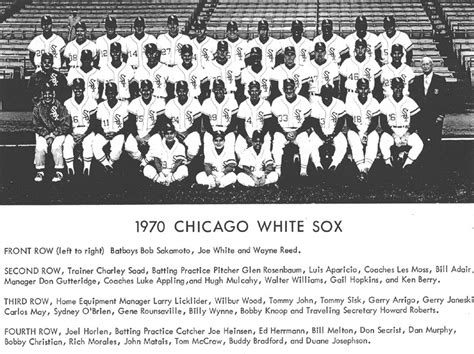 thedeadballera 1970 chicago white sox team photo