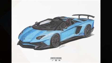 lamborghini aventador sv roadster drawing speed drawing lamborghini aventador lp750 4 sv roadster cortez design youtube
