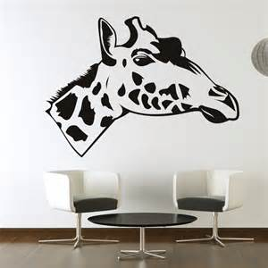 giraffe wall sticker giraffe head side view wall stickers art wall decals