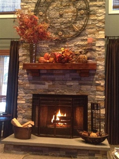stone fireplace decor fall mantel juliana outfit ideas pinterest