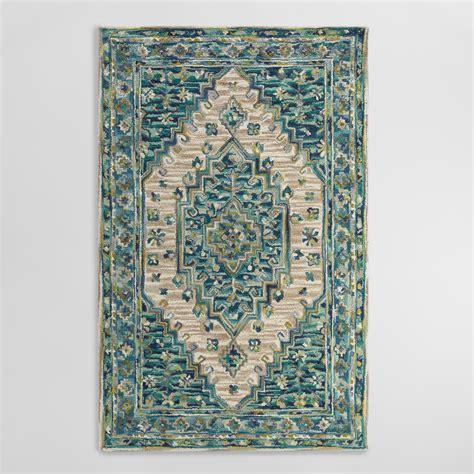 Cervan Rugs blue tufted wool zahra caravan area rug world market