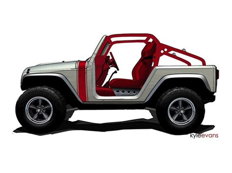 new jeep design jeep previews wrangler renegade and pork chop concepts