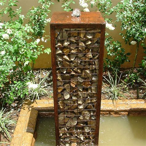 Garden Wall Features Ideas Gabion Water Now This I Don T Mind I Am So Not A Fan Of The Gabion Fad That Seems To