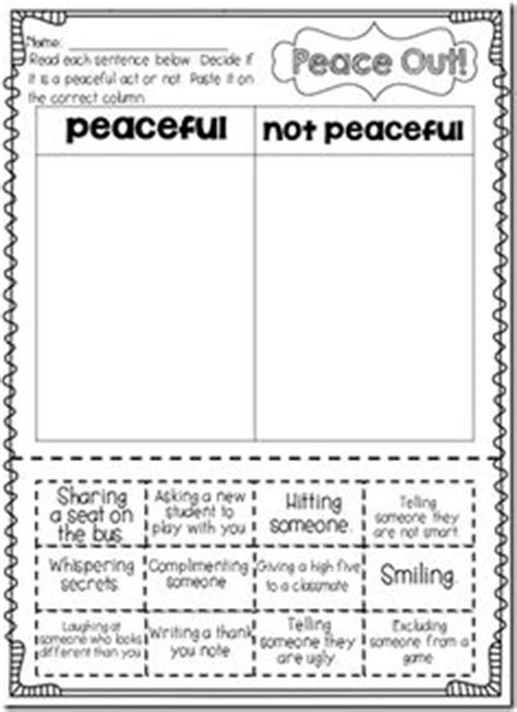 Peace Day Worksheets by 1000 Images About Martin Luther King Jr On