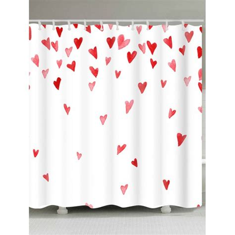 valentine shower curtain valentine s day heart of love pattern shower curtain in