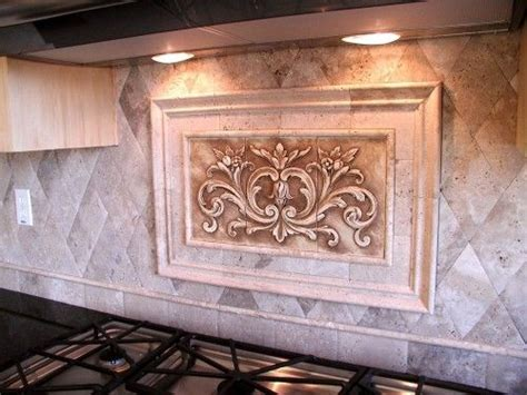 decorative tile inserts kitchen backsplash custom made kitchen backsplash using a floral tile by