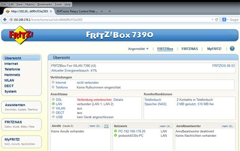 kmtronic lan relays fritz box configuration