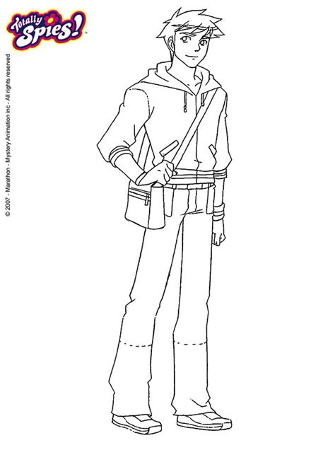 free coloring pages of totally spies jerry