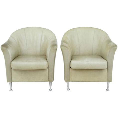 Tub Armchairs For Sale by Pair Of 1960s Leather Tub Armchairs For Sale At 1stdibs