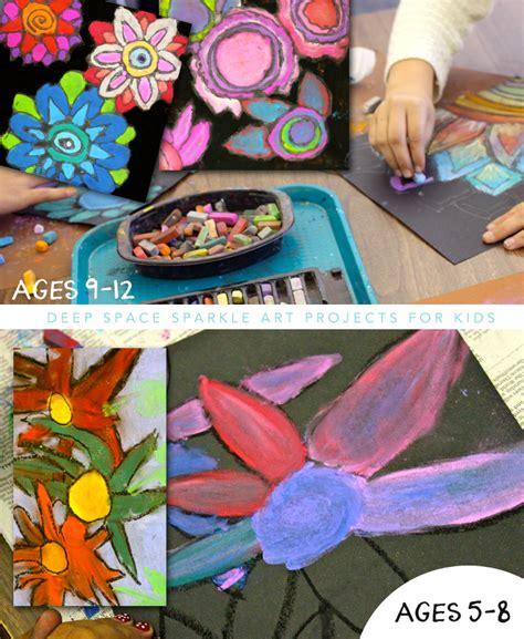 Van Gogh Flowers In Vase Chalk Flowers Art Project 2 Ways Deep Space Sparkle