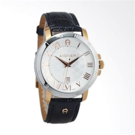 Jam Tangan Aigner Gold jual aigner triento jam tangan pria black silver gold a09027 harga kualitas