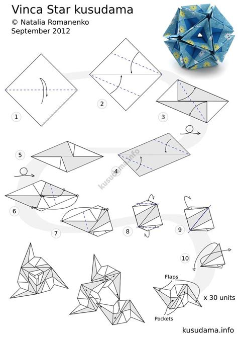Origami Sphere Tutorial - 253 best kusudamas images on modular origami