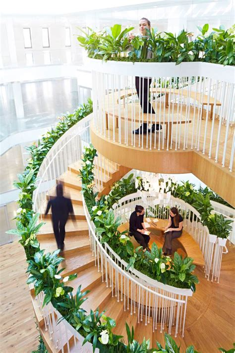 building an indoor garden a living staircase as floating indoor garden