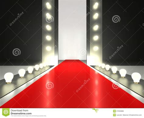 Auditorium Floor Plans by Empty Red Carpet Fashion Runway Illuminated Royalty Free