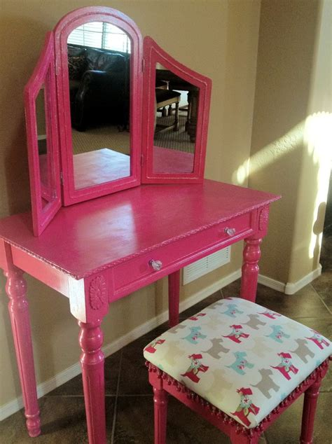 pink vanity makeup table furniture pink stained wooden makeup vanity table with