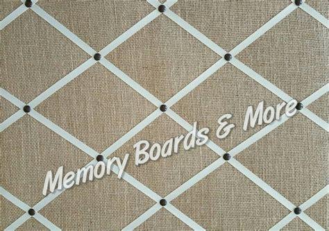 burlap fabric shabby chic memory board memo board pin board