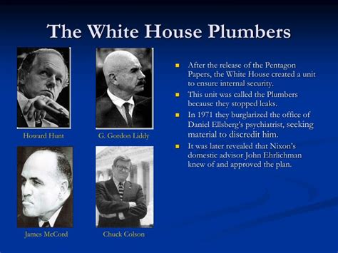 White House Plumbing by Ppt Nixon And Watergate Powerpoint Presentation Id 1710893