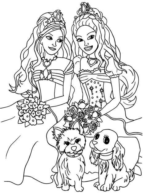 online coloring pages of barbie kids coloring sheets barbie and the diamond castle