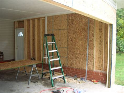 Convert Carport Into Garage by Convert Carport To Garage