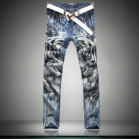 Tiger Pattern Jeans | jeans kingdom gt gt 2014 powerful king brother jeans fashion