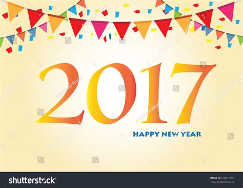 happy new year 2017 card template happy new year 2017 background greeting stock vector