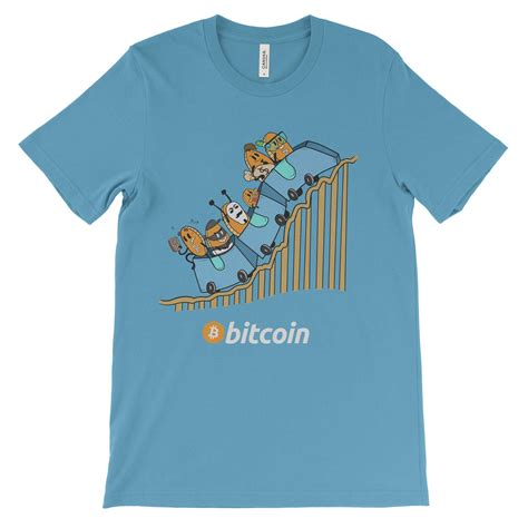Tshirt Bitcoin bitcoin cryptocurrency roller coaster colored t shirt