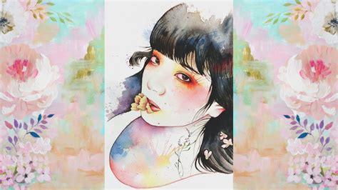 watercolor edit tutorial tumblr 小松菜奈 nana komatsu watercolor painting eteru youtube