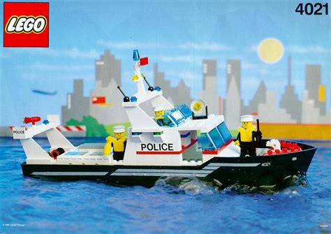 lego boat police lego police patrol boat instructions 4021 boats