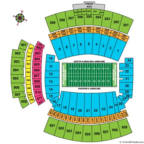 williams brice seating chart williams brice stadium tickets and event schedule