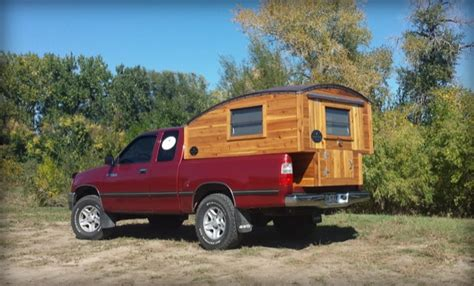 handmade micro truck bed camper for 3700 tiny house pins