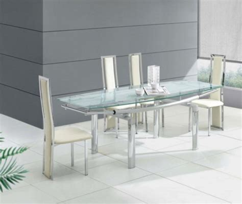 glass dining room 39 modern glass dining room table ideas