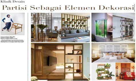 design interior binus partisi sebagai elemen dekorasi