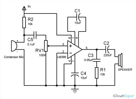 audio lifier output capacitor lm386 audio lifier circuit diagram