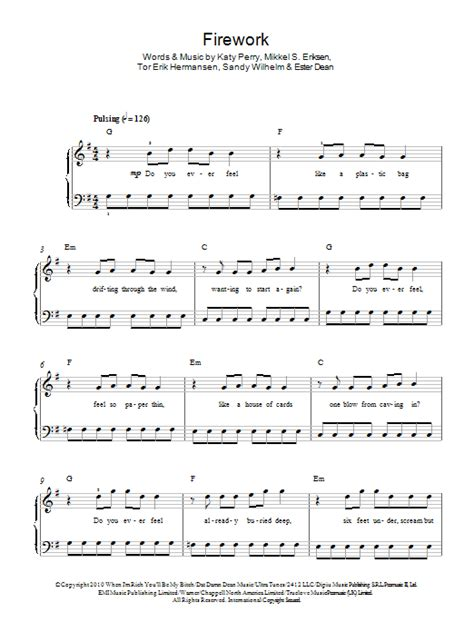 Guitar Chords For Firework