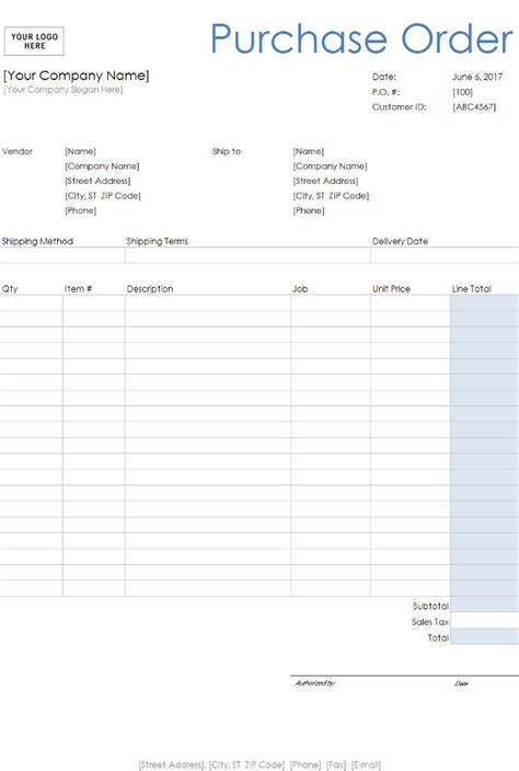 Free Purchase Order Templates Invoiceberry Free Purchase Order Template